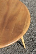 Image of Vintage Ercol drop down coffee table in light elm finish circa 1960/70s