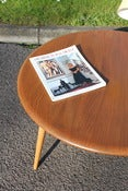 Image of Vintage Ercol circular elm & beech wood coffee table circa 1960/70s