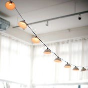 Image of pleated porcelain string lights