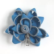 Image of Zipper Pin SALE turquoise/silver