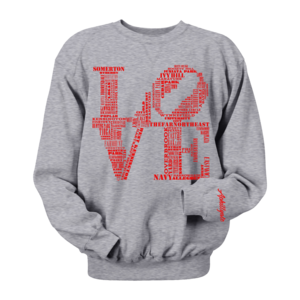 Image of Men's Classic Love Crewneck (Grey)