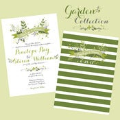 Image of Floral Garden Wedding Invitation