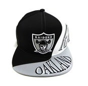 "Image of OAKLAND RAIDERS ""MULTI PANEL"" MITCHELL & NESS SNAPBACK"