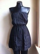 Image of SM/MD Vintage Guayabera Dress - Black