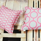 Image of Coral Reversible Linen Mix Cushion Cover