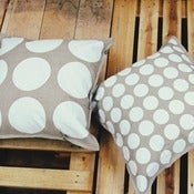 Image of White Reversible Linen Mix Cushion Cover