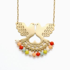 Image of Fantail Necklace | Golden Sorbet