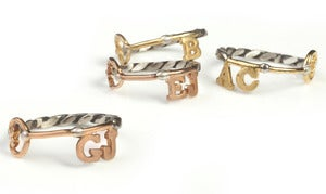 Image of Personalised Key Styled Ring
