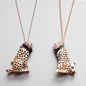 Image of Porcelain Cheetah Necklace by And Mary 