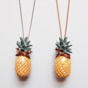 Image of Porcelain Pineapple Necklace by And Mary 