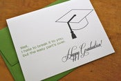 Image of Easy Part's Over - Graduation Card