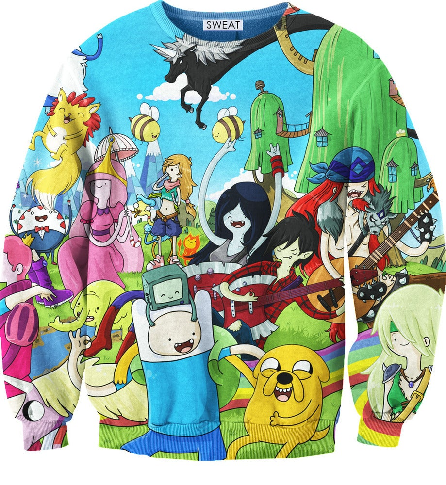 ADVENTURE TIME SWEATSHIRT COLORFUL on The Hunt