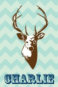 Image of Personalized Deer Print, 3