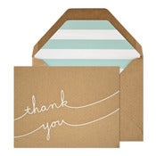 Image of Kraft Thank You Card Set