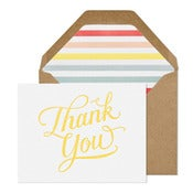 Image of Thank You Card- Yellow Script
