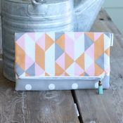 Image of foldover clutch - modern peach