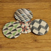 Image of geometric pocket mirrors