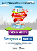 "Image of Buzz Badge Pack - 2 ""Franchise Appreciation Day"" Badge"