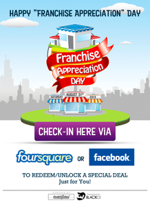 Image of Buzz Badge Pack - 2 &quot;Franchise Appreciation Day&quot; Badge