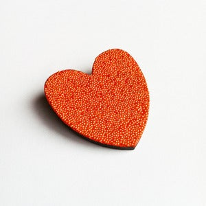 Image of Mini Heart Brooch - Tangerine