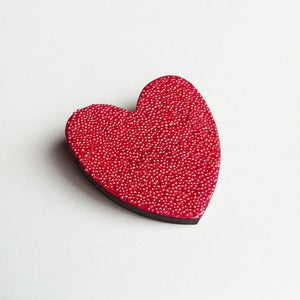 Image of Mini Heart Brooch - Fuschia