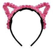 Image of Pink Floral Cat Ears  TEMPORARILY OUT OF STOCK