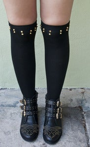 Image of Studded Knee Socks