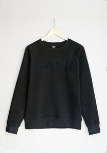 Image of CMBK Black Floral Sweater (Black)