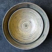 Image of bamboo salad bowls