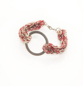 Image of elenii Circular bracelet Salmon/Pink/Silver 