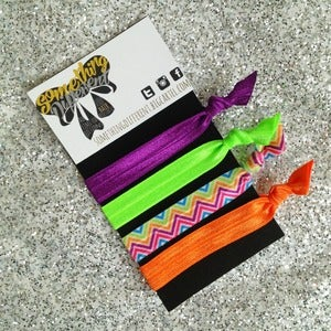 Image of Bright Zig Zag Mix Hair Ties