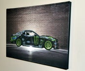 Image of SIGNED 24x16in Wrapped Canvas of Monster Energy Nitto Tire 2014 Mustang RTR in Still **LIMITED**