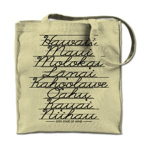 Image of Island Cursive Tote Bag