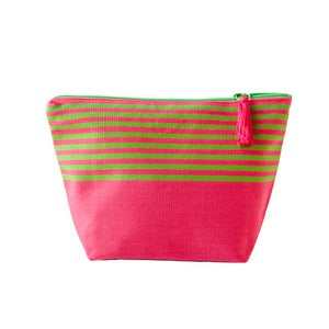 Image of Medium Tassel Bag Pink/Lime
