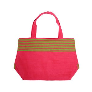 Image of Market Tassel Bag Pink/Lime