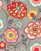 Image of Deco Flowers fabric by Makower