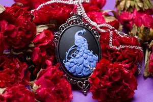 Image of Peacock Cameo Necklace