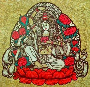 Image of EASTERN TARA original painting