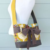 Image of mini messenger bag - mustard floral