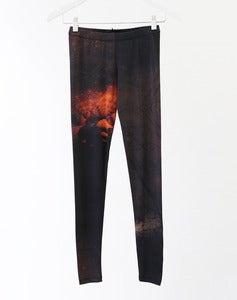 Image of MATRIX Leggings - Red Fractal