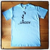 Image of Linden T-shirt in sky blue with black logo