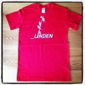 Image of Linden T-shirt in red with white logo