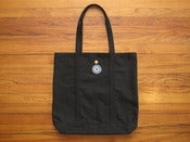 Image of black canvas tote