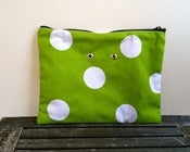 Image of Yarn Pop - Green w/White Polka Dots (Double)