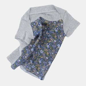 Image of Union T-Shirt - Heather+Blue Flower