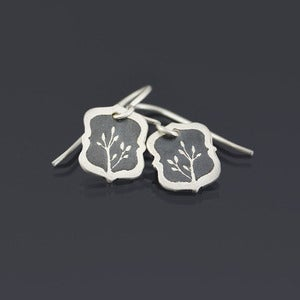 Image of Tiny Framed Branch Earrings