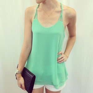 Image of Braided strap tank: Mint Green