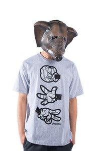 Image of Rock Paper Cut Tee Dumbo - Grey