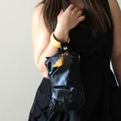 Image of Eco leather bracelet handbag