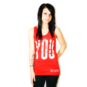 Image of You Red Tank Top **FINAL PRINT!**